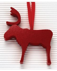 Red Reindeer Ornament