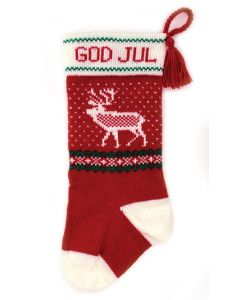 God Jul Reindeer Stocking