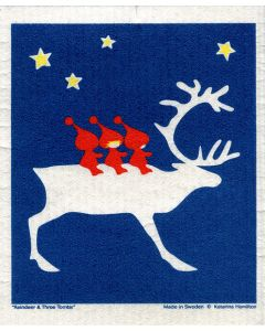 Reindeer Riding Dishcloth