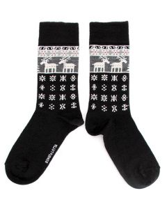 Bengt & Lotta Black Reindeer Socks