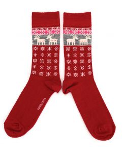 Bengt & Lotta Red Reindeer Socks