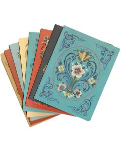 Rosemaling Design Note Cards