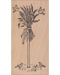 Birds and Sheaf Rubber Stamp