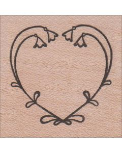 Linnea Heart Rubber Stamp