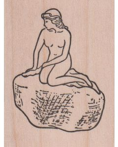 The Little Mermaid Rubber Stamp