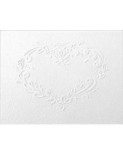 Embossed Rosemaled Heart Cards