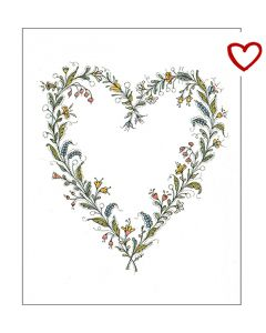 Schnoor Flower Heart Cards