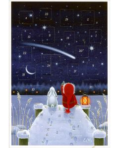 Shooting Star Advent Calendar Card