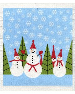 Snowmen and a Tomte Dishcloth