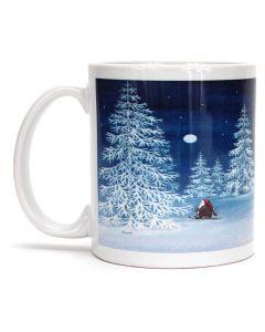 Snowy Tomte Skier Mug