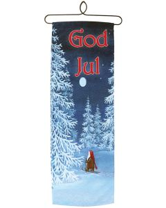 Snowy Tomte Skier Wall Hanging