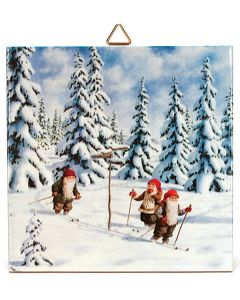 Tomtar Skiers Tile