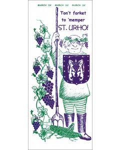 Ton't Forket St.Urho Card