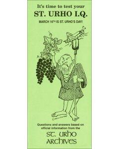 St.Urho IQ Quiz Card