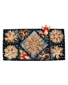 Traditional Straw Ornaments Box of 28