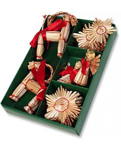 Traditional Straw Ornaments Small Set