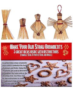 Make Your Own Straw Ornaments Kit