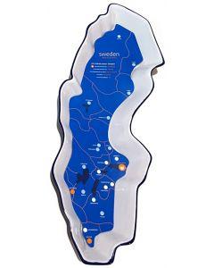 Sweden Map Bowl