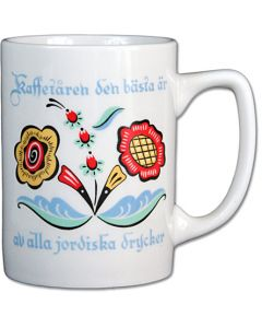 Swedish Flower Kaffe Mug