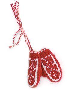Tiny Hand Knit Mitten Ornaments