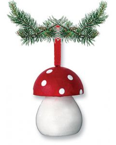 Cute Red Mushroom Ornament