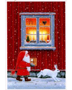 Tomte & Bunny Advent Calendar Card