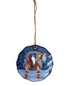 Tomte on Julbock Ornament