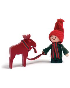 Tomte Boy with Moose