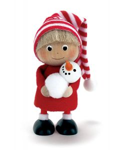 Tomte Boy with Snowman