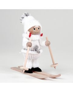 Skiing Girl Tomte