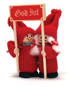 Tomte Kids with God Jul Sign