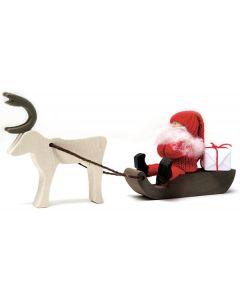 Tomte on Reindeer-pulled Sled
