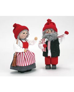 Peppermint Stripe Tomte Couple