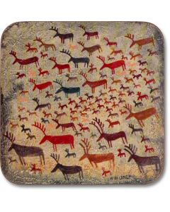 Reindeer Rock Art Trivet