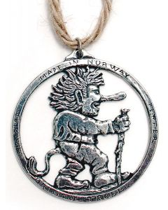 Norwegian Pewter Troll Ornament