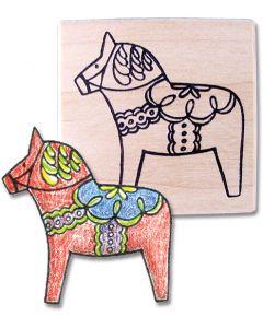 Dala Horse Rubber Stamp