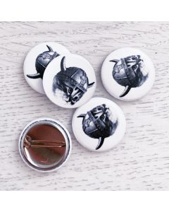 Viking Kitty Button