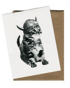 Viking Kitty Card