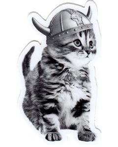 Viking Kitty Sticker