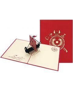 Viking Ship Pop Up Card