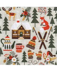 Winter Cabin Napkins