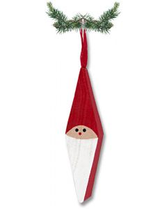 Wood Diamond Tomte Ornament
