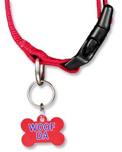 Woof Da Bone Shaped Dog Tag