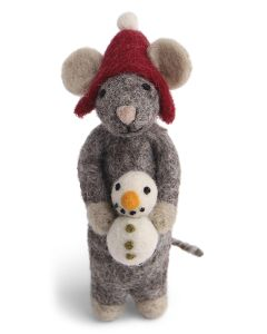 Wool Mouse's Snowman Ornament