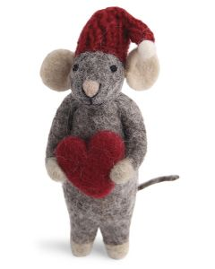 Wool Mouse's Heart Ornament