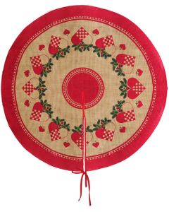 Woven Hearts Christmas Tree Skirt