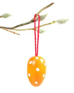 Yellow Polka Dot Egg Ornament