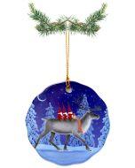 Tomtar on Reindeer Ceramic Ornament