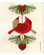 Cardinal Pair Cellulose Dishcloth