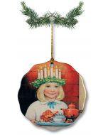 Young Lucia Ceramic Ornament